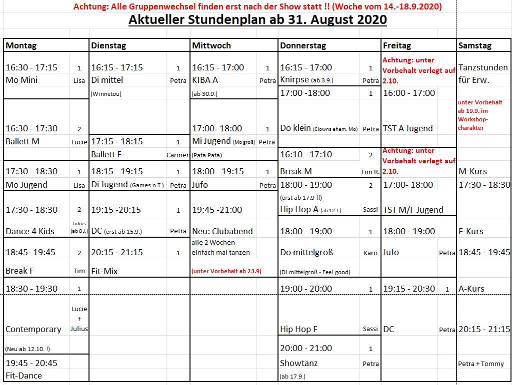 Stundenplan 08-20